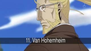 Los mejores personajes de Fullmetal Alchemist