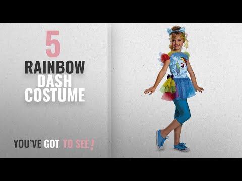 Top 10 Rainbow Dash Costume [2018]: Hasbro's My Little Pony Rainbow Dash Classic Girls Costume,
