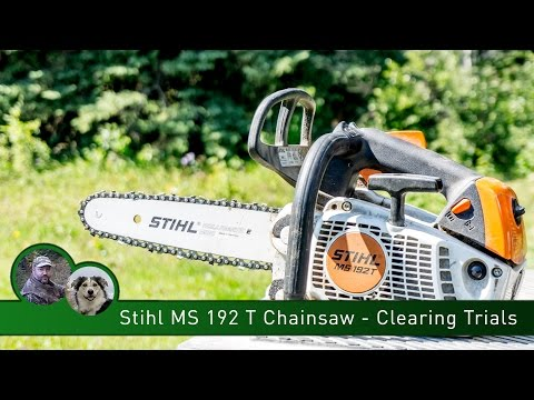 Stihl MS 192 T Chainsaw - Clearing Trails
