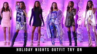 Holiday Nights: Winter Party & Going Out Outfit Try On (Missguided + Fashion Nova) ▸ VICKYLOGAN