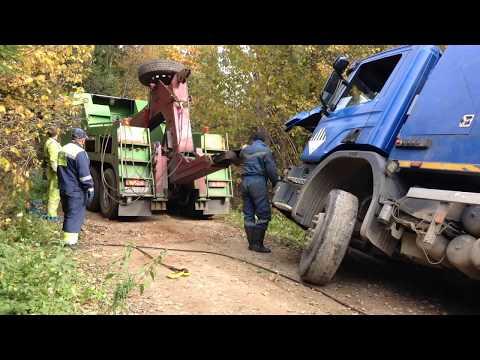 Поднимаем груженый (20 тонн) мусоровоз