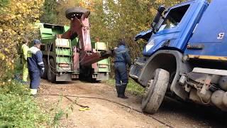 �������� ���� Поднимаем груженый (20 тонн) мусоровоз ������