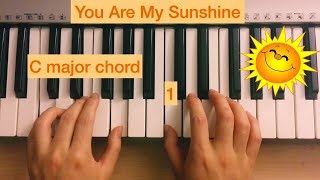 How to play You Are My Sunshine with both hands (melody and chords)