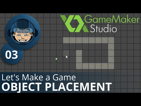 OBJECT PLACEMENT - Let's Make A Game: Ep. #3 - Project Automation - Game Maker Tutorials