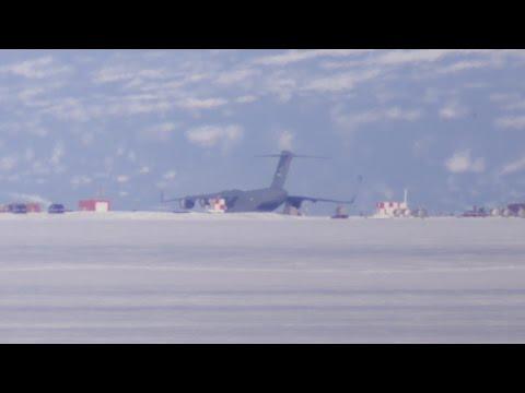 Last summer flight leaving Scott Base/McMurdo