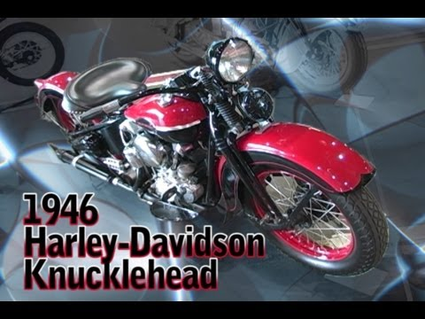 Clymer Manuals 1946 Harley Davidson Knucklehead Antique Vintage Retro Retro Cruiser Restored Video