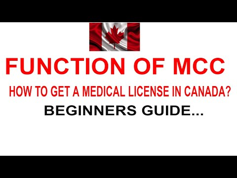 MEDICAL COUNCIL OF CANADA : Route To Licensing Exams/ International Medical Graduate (PART 1)