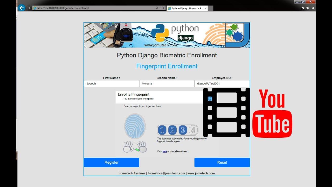 Python Django Biometric Fingerprint Enrollment and Registration