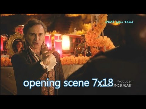 Once Upon A Time 7x18  Opening Scene Rumple Belle Facilier - Alice is Guardian Season 7 Episode 18