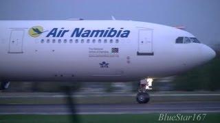 Air Namibia Airbus A340-300 (V5-NME) taking off from FRA/EDDF (Frankfurt - am Main) RWY 18