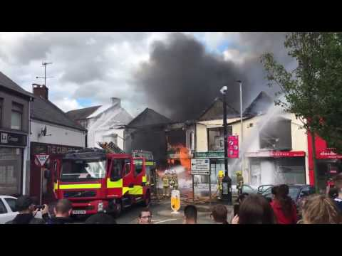 FIRE: Major Fire destroys buildings in Ballymena County Antrim