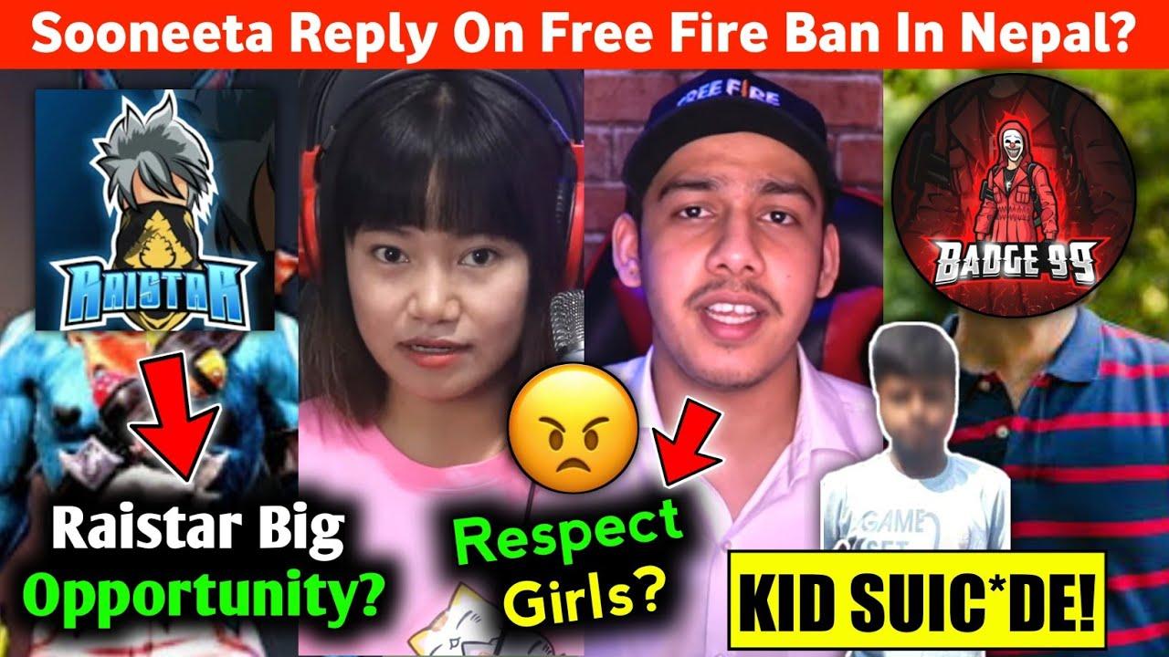 FF Ban in Nepal Sooneeta reply?😮 13year old Kid Suic*de!😱 Raistar FF Caster?😃 Gaming Aura Leak No.?😠