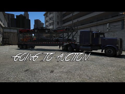 GTA 5 ROLE PLAY - GOING TO AUCTION - SELLING MY CUSTOM CARS!