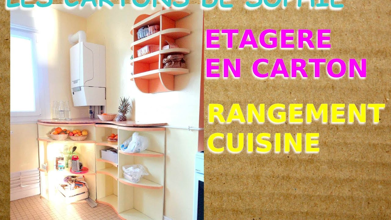 diy carton cuisine un rangement sur mesure avec une tablette en pin youtube. Black Bedroom Furniture Sets. Home Design Ideas