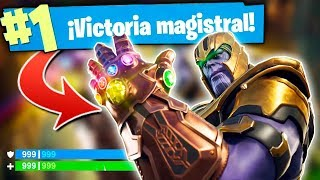 THE SECRET TIP TO BE THANOS ALWAYS IN FORTNITE (VICTORIES MAGISTRALES)