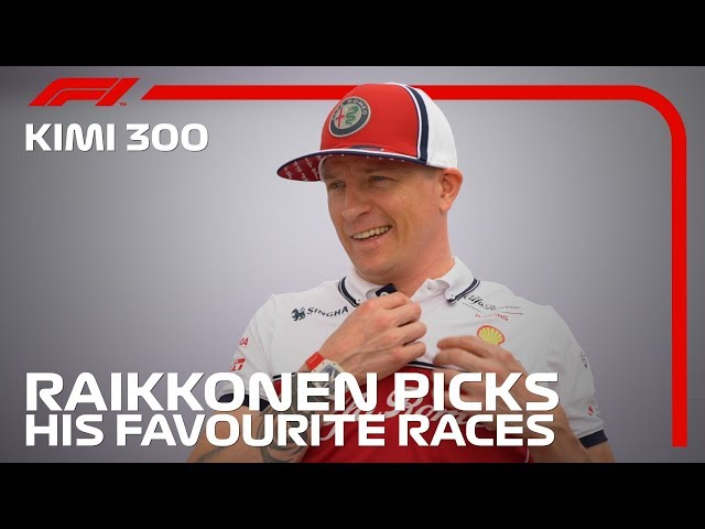 Raikkonen's 300th F1 Race: Kimi Picks His Five Favourite Races