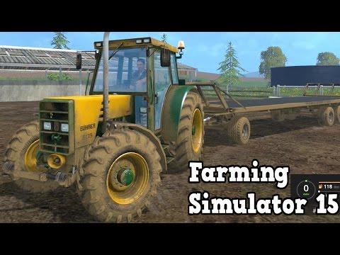 Farming Simulator 15 - Buehrer 6135 A Tractor + Trailer Test Drive