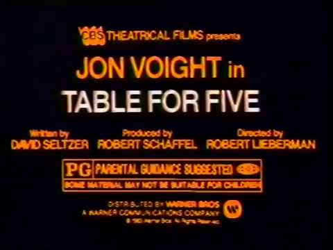 Table for Five 1983 TV trailer