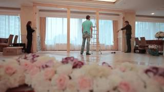 Смотреть видео оформление свадьбы