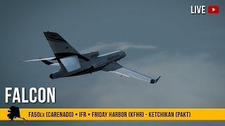 #54 | FALCON 50ex | KFHR - PAKT (Friday Harbor - Ketchikan) | P3Dv4