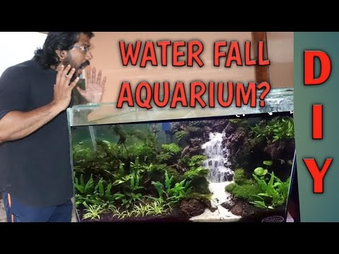 How To Make A Sand Waterfall For Your Aquarium. Aquarium Waterfall. Sand Waterfall Aquarium.