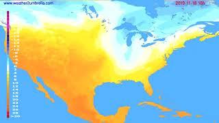Temperature forecast USA & Canada // modelrun: 12h UTC 2019-11-17