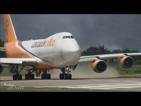 Centurion Cargo 747-400F departing from MHLM, San Pedro Sula