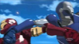 Iron Man anime cool song and fight scene
