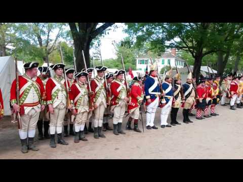 Crown troops getting ready. (Rebels to Redcoats at Old Sturbridge Village 2016)