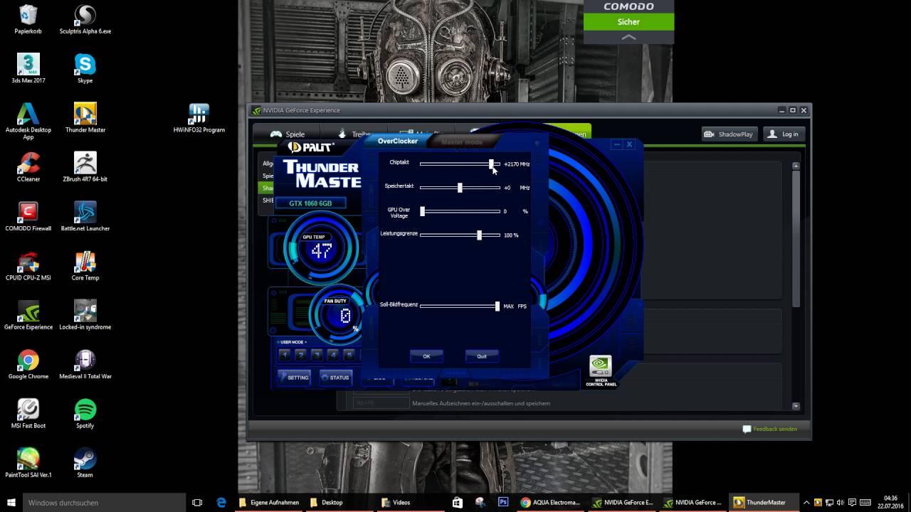 Palit gtx 1060 dual Thunder Master Overclock - YouTube