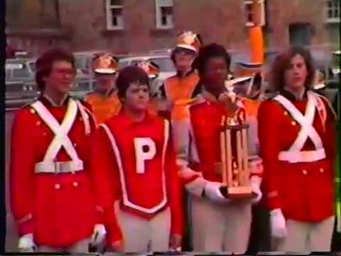 Parkersburg High School Big Red Band in competition 1981-1982 School Year