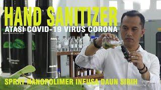 ... dosen fakultas farmasi universitas gadjah mada ugm yogyakarta. ronny martien membuat hand sanitizer sp...