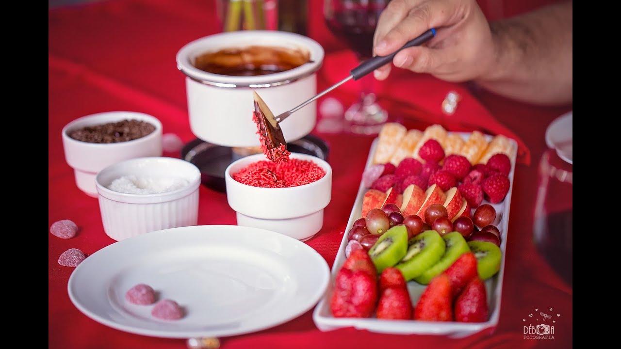 Como fazer fondue de chocolate com frutas dia dos namorados youtube - Fondue de chocolate ...