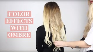 Create color effects with a Clip-on set in Ombre color