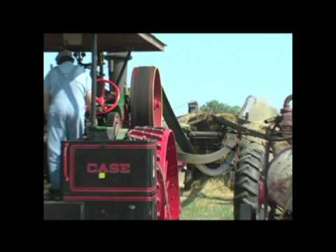 Steam Engine Powered Sawmill And Grain Separator Youtube