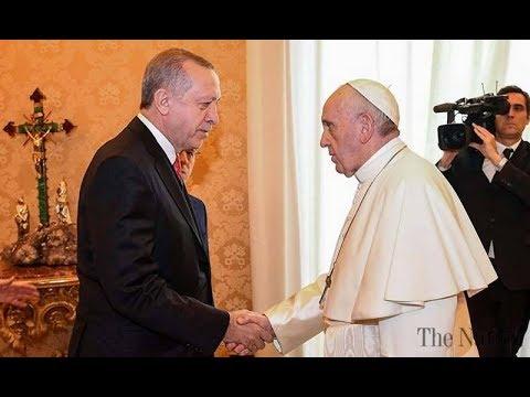 BREAKING Catholic Pope Francis meets ISLAMIC Erdogan Turkish President February 5 2018