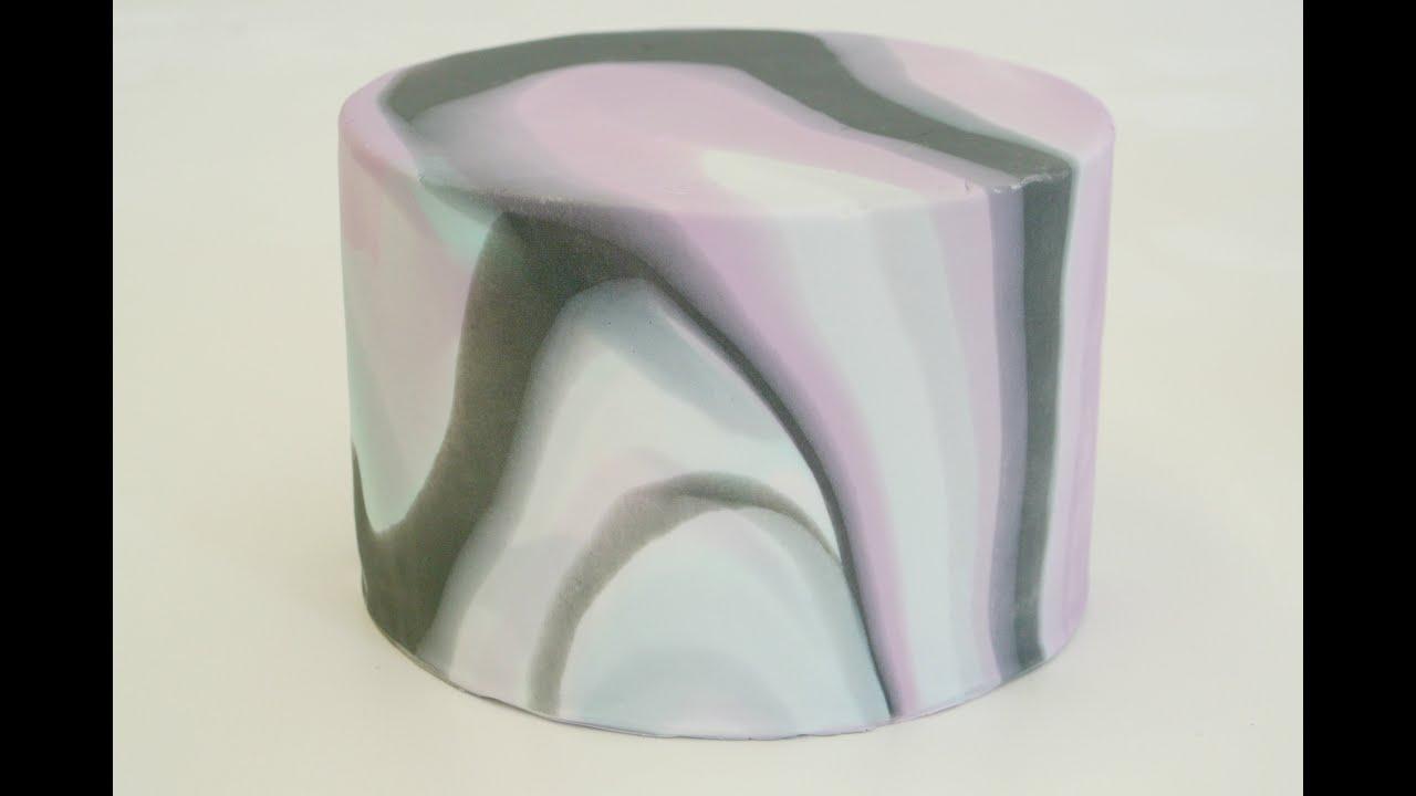 Marbled Cake Marmorierter Fondant Marmor Effekt An Fondant Torte