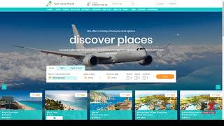 """Your Travel World -"""" Online Travel Booking HTML Template        Halla"""
