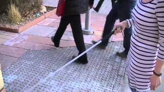 How a Blind Person Uses a Cane