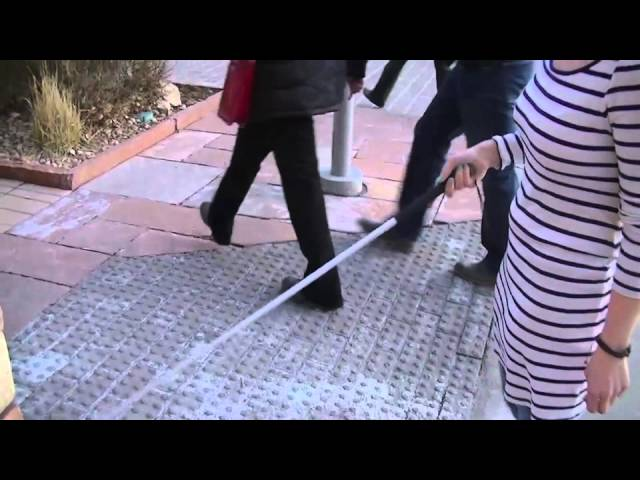 How A Blind Person Uses A Cane Youtube