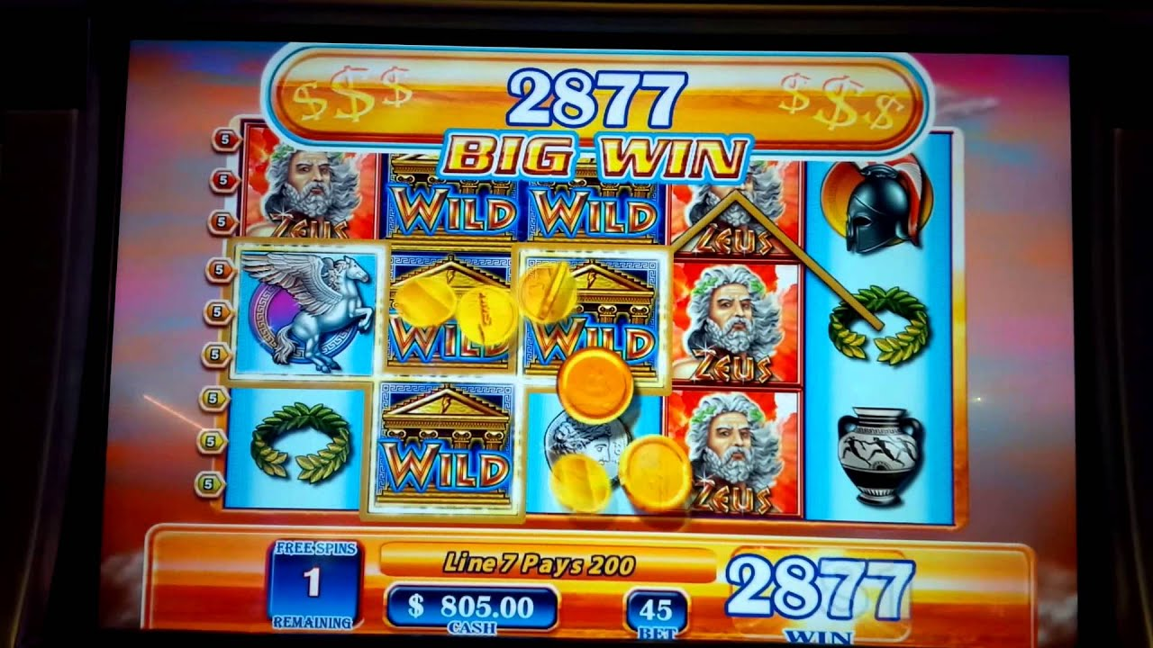Zeus 3 slot machine jackpot