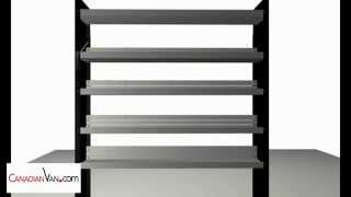 Sprinter Van & Cube Van Steel Shelving Unit Assembly. Black Knight Series. Canadianvan.com