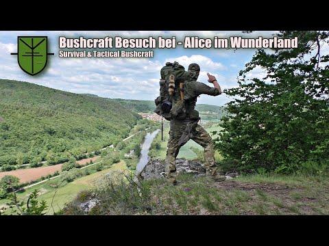 Bushcraft Übernachtung mit kochen am Feuer und Lagerbau / Bushcraft Deutschland