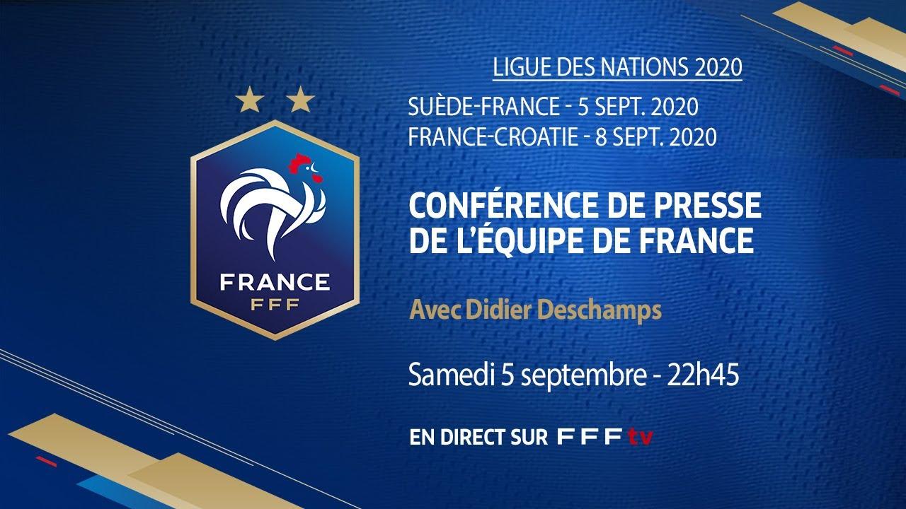 Suede France La Conference D Apres Match I Fff 2020 2021 Pause Foot