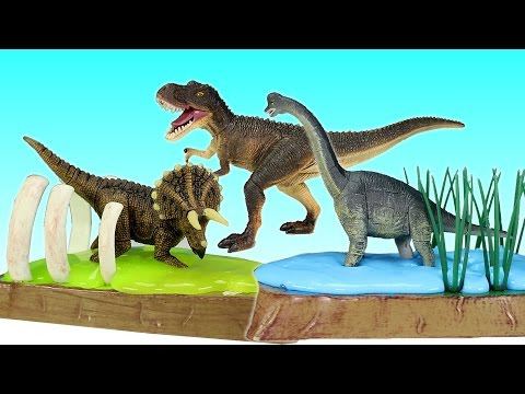 Dinosaurs Educational Toys 3D Puzzles Tyrannosaurus Rex Triceratops - DINOSAURS Toys For kids