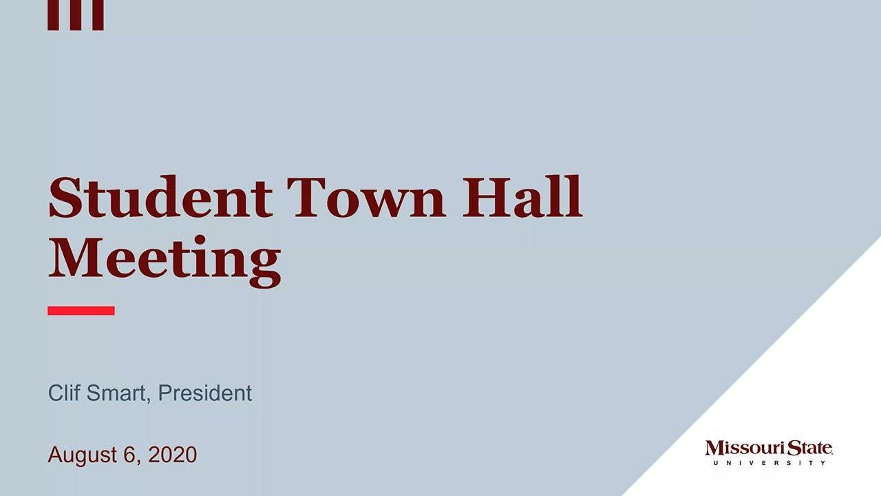 Virtual Student Town Hall Meeting