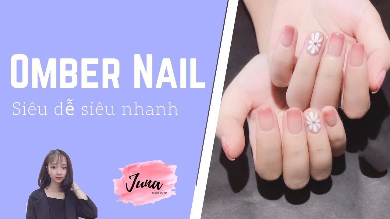 Hướng dẫn ombre nails siêu dễ siêu nhanh | Thảo Juna