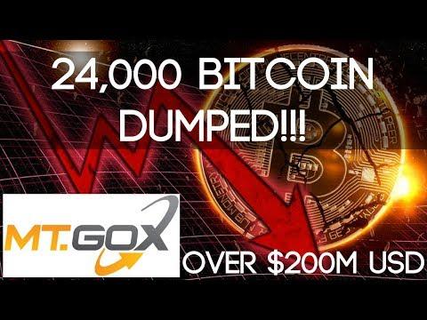 Mt Gox Bitcoin Sell off (May 2018)