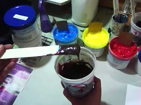 Mixing Screen Inks
