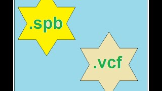How to convert .SPB file (contact file) to VCF card ?